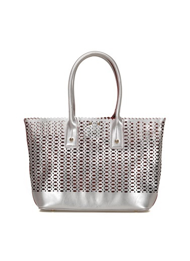 Miss F Omuz Çantası Gümüş